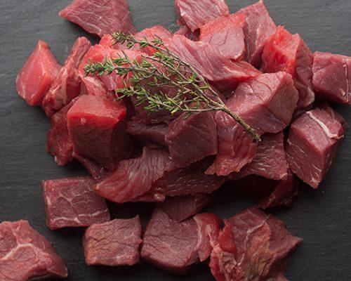 diced chuck steak
