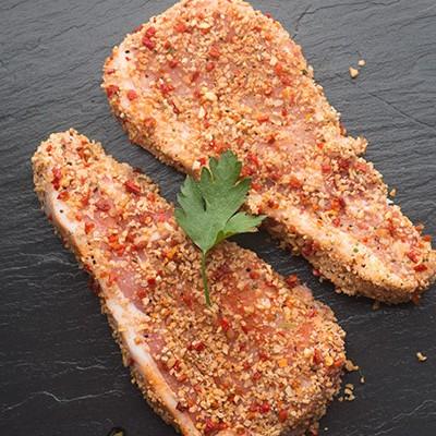 peppered pork steaks