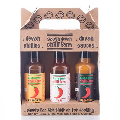 chilli farm sauces set