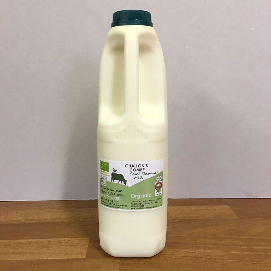 Challon's Combe 1l Semi Skimmed Organic Milk