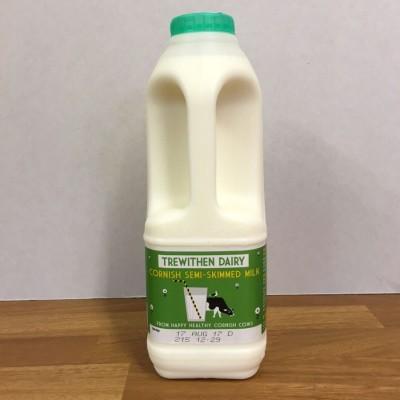 1lt Trewithian Semi Skimmed Milk