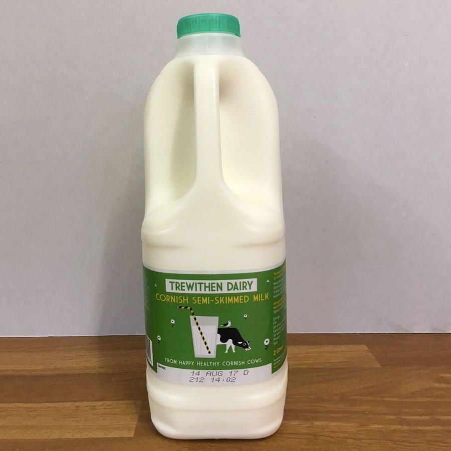 Trewithen 2l Semi Skimmed Milk