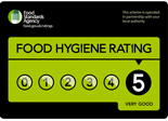 Aune Valley has a Food Hygiene rating of 5