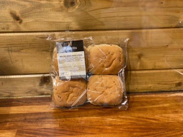 Malted Grain Baps- 4 pack